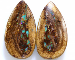 30.50 CTS BOULDER WOOD FOSSIL PAIR NC-7733