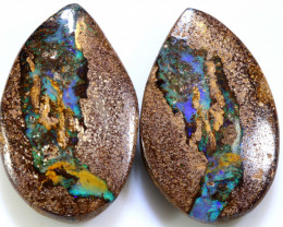 30 CTS BOULDER WOOD FOSSIL PAIR NC-7736