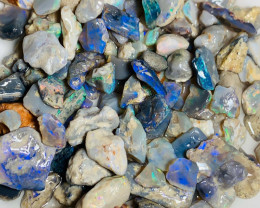 Colourful Potential Rough Nobby Opals - Plenty of Colours