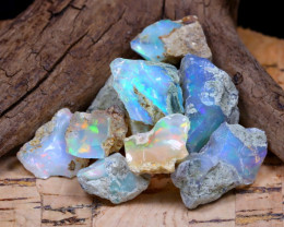 Welo Rough 33.65Ct Natural Ethiopian Play Of Color Rough Opal D1704