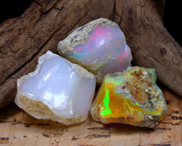 Welo Rough 40.96Ct Natural Ethiopian Play Of Color Rough Opal D1705