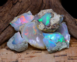 Welo Rough 39.03Ct Natural Ethiopian Play Of Color Rough Opal D1706