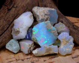 Welo Rough 36.94Ct Natural Ethiopian Play Of Color Rough Opal D1707
