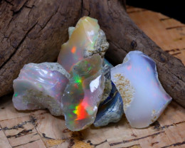 Welo Rough 37.11Ct Natural Ethiopian Play Of Color Rough Opal D1708
