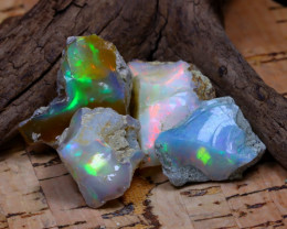 Welo Rough 42.48Ct Natural Ethiopian Play Of Color Rough Opal D1710