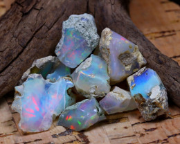 Welo Rough 40.10Ct Natural Ethiopian Play Of Color Rough Opal D1711