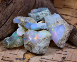 Welo Rough 37.61Ct Natural Ethiopian Play Of Color Rough Opal E1701