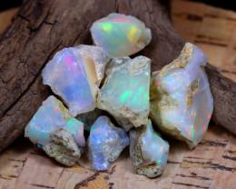 Welo Rough 40.60Ct Natural Ethiopian Play Of Color Rough Opal E1702