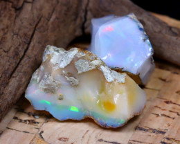 Welo Rough 54.22Ct Natural Ethiopian Play Of Color Rough Opal E1703
