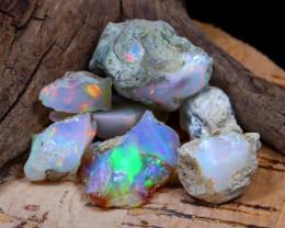 Welo Rough 43.37Ct Natural Ethiopian Play Of Color Rough Opal E1705