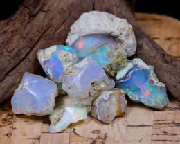 Welo Rough 37.81Ct Natural Ethiopian Play Of Color Rough Opal E1706