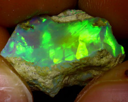 9.46Ct Multi Color Play Ethiopian Welo Opal Rough J1903/R2