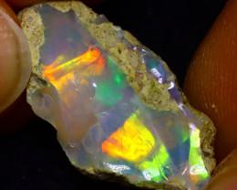 6.48Ct Multi Color Play Ethiopian Welo Opal Rough J1904/R2