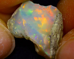 10.00Ct Multi Color Play Ethiopian Welo Opal Rough J1905/R2