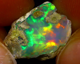 7.06Ct Multi Color Play Ethiopian Welo Opal Rough J1909/R2