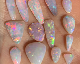 13cts drop shaped Coober Pedy light opal