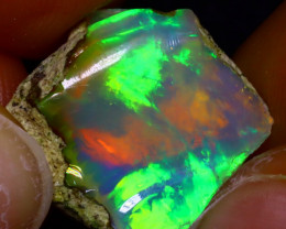 6.67Ct Multi Color Play Ethiopian Welo Opal Rough JF2006/R2