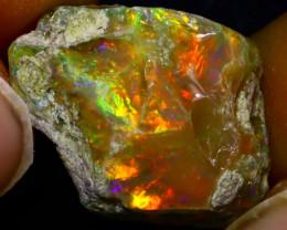 12.30Ct Multi Color Play Ethiopian Welo Opal Rough JN175/R2