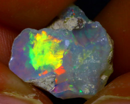 5.28Ct Multi Color Play Ethiopian Welo Opal Rough JN164/R2