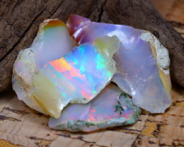 Welo Rough 24.50Ct Natural Ethiopian Play Of Color Rough Opal F1901