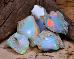 Welo Rough 29.81Ct Natural Ethiopian Play Of Color Rough Opal F1902