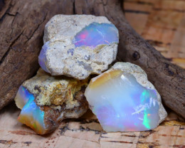 Welo Rough 31.82Ct Natural Ethiopian Play Of Color Rough Opal F1905
