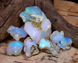 Welo Rough 29.26Ct Natural Ethiopian Play Of Color Rough Opal F1906
