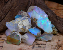Welo Rough 38.33Ct Natural Ethiopian Play Of Color Rough Opal F1908