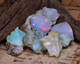 Welo Rough 33.87Ct Natural Ethiopian Play Of Color Rough Opal F1909