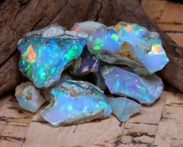 Welo Rough 35.81Ct Natural Ethiopian Play Of Color Rough Opal F1911