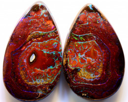 42.85cts Australian Yowah Opal Pair DO-94