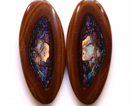 PRIVATE AUCTION!!! DO NOT BIDYowah Opal Nut Pair DO-99 - downunderopals