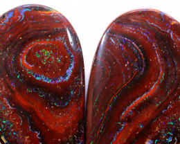 *OPEN TO OFFERS * Yowah Opal Pair DO-102 - downunderopals