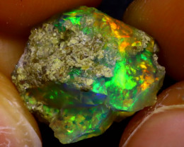 6.47Ct Multi Color Play Ethiopian Welo Opal Rough JF2202/R2