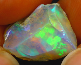 7.35Ct Multi Color Play Ethiopian Welo Opal Rough JN194/R2