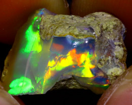 10.42Ct Multi Color Play Ethiopian Welo Opal Rough JF2210/R2