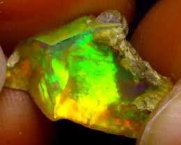 5.67Multi Color Play Ethiopian Welo Opal Rough JF2218/R2