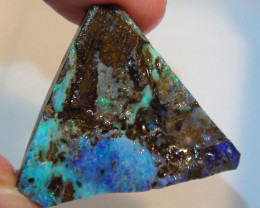 Boulder Opal Rough Rub With Beautiful Blue Green Color
