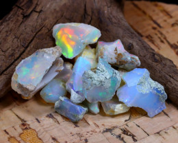 Welo Rough 35.54Ct Natural Ethiopian Play Of Color Rough Opal F2003