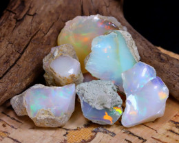 Welo Rough 41.74Ct Natural Ethiopian Play Of Color Rough Opal F2006