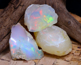 Welo Rough 41.35Ct Natural Ethiopian Play Of Color Rough Opal F2007