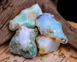 Welo Rough 33.31Ct Natural Ethiopian Play Of Color Rough Opal F2011