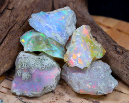 Welo Rough 33.43Ct Natural Ethiopian Play Of Color Rough Opal D2005