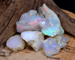 Welo Rough 37.09Ct Natural Ethiopian Play Of Color Rough Opal D2007