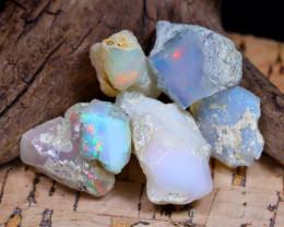 Welo Rough 33.82Ct Natural Ethiopian Play Of Color Rough Opal E2107