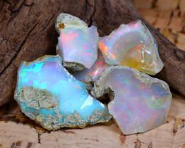 Welo Rough 32.90Ct Natural Ethiopian Play Of Color Rough Opal E2108
