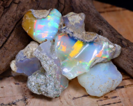 Welo Rough 39.97Ct Natural Ethiopian Play Of Color Rough Opal E2001