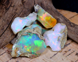 Welo Rough 32.47Ct Natural Ethiopian Play Of Color Rough Opal E2003