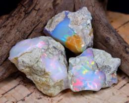 Welo Rough 38.80Ct Natural Ethiopian Play Of Color Rough Opal E2007