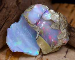 Welo Rough 36.97Ct Natural Ethiopian Play Of Color Rough Opal E2009
